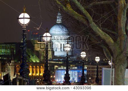 Thames At Night With Lanterns