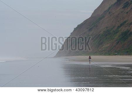 Running In The Surf Ecuador