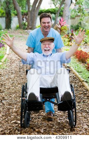 Disabled Senior - Fun