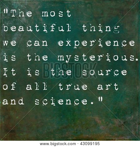 Inspirational quote by Albert Einstein on earthy green background