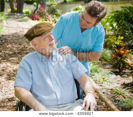 Elderly Patient And Nurse