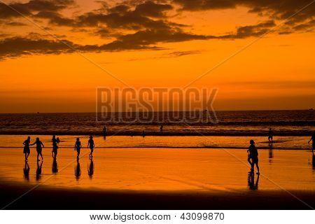 Sunset On Pacific Coast Of Ecuador