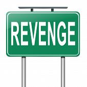 image of revenge  - Illustration depicting a sign with a revenge concept - JPG