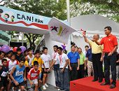 Minister Vivian Balakrishnan Flagging Off A Run