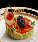 Caviar And Salmon Salad