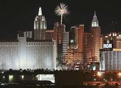 A New York Casino Fireworks View From Mccarran Airport