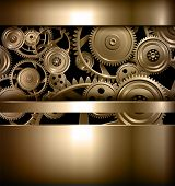 foto of cogwheel  - Technology background metallic gears and cogwheels - JPG