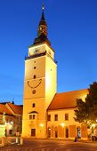 foto of mikulas  - Trnava Tower at night  - JPG