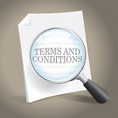 stock photo of rental agreement  - Examining the Terms and Conditions of a Legal Agreement - JPG