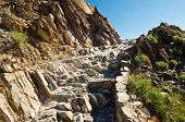 image of piestewa  - Rock Stairway on Piestewa  - JPG
