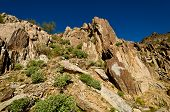 stock photo of piestewa  - Rock Formation Looking up on Piestewa  - JPG
