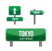 Постер, плакат: Токио Сити дорожный знак