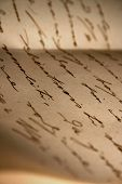 picture of annal  - a photo of an old love handwritten letter (selective focus)