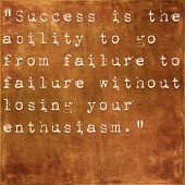 image of perseverance  - Inspirational quote by Winston Churchill on earthy brown background - JPG