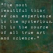 picture of einstein  - Inspirational quote by Albert Einstein on earthy green background - JPG