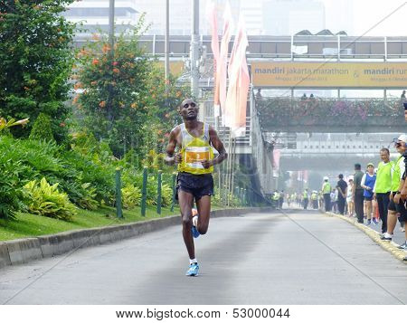 Stephen Tum Kenya Runner at Jakarta Marathon International