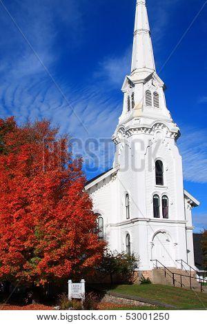 Williston church steeple