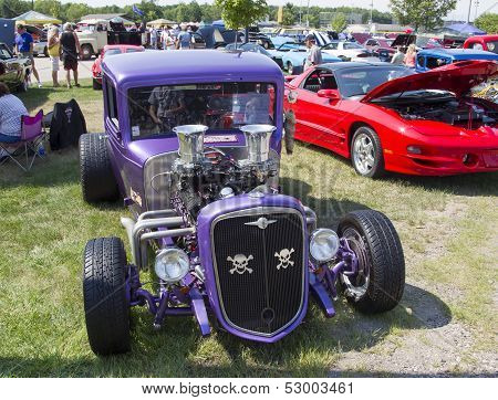 1932 Chevy Roadster Purple Front View