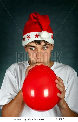 Teenager With Red Balloon