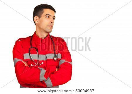 Paramedic Looking Away