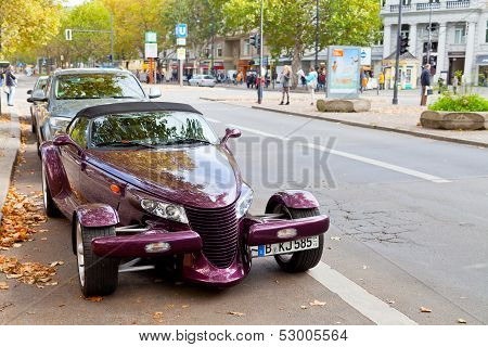 Kurfurstendamm With Expensive Car In Berlin