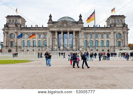 Reichstag Building In Autumn
