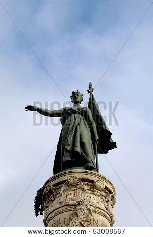 Marianne, the national emblem of France, symbolizing the