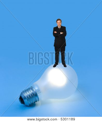 Lighting Lamp And Man