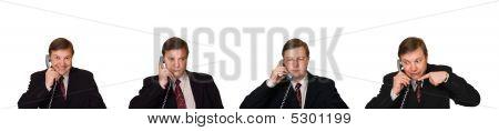 Satz von Männern mit Telefon