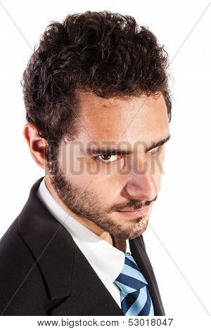 Businessman's Glare