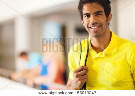 handsome male indian college student portrait