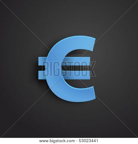 Modern stylish icon. Euro sign