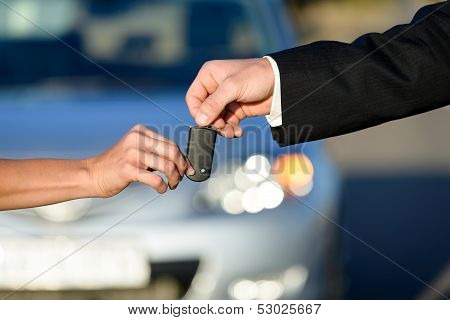 People Buying New Car