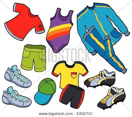 Coleção de roupas de esporte