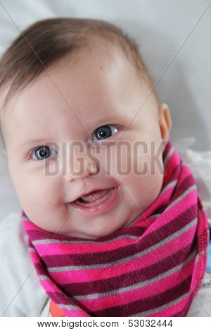 Portrait Of A Beautiful Newborn Baby
