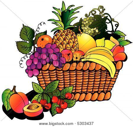 Früchte mit Korb
