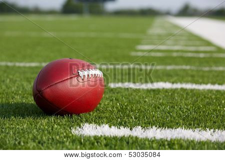Pro American Football on the Field with room for copy