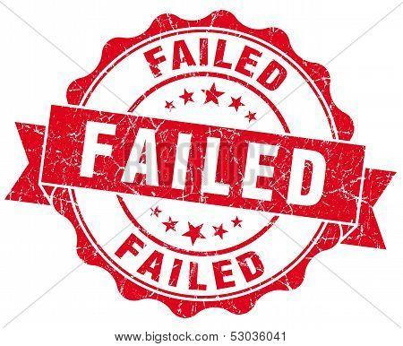 Failed Grunge Round Red Seal
