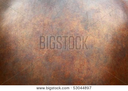Heavily Worn Copper Texture Surface