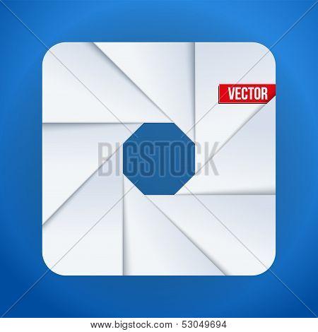Simple Camera aperture objective icon symbol