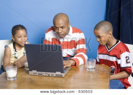 Family Playing Computer Games