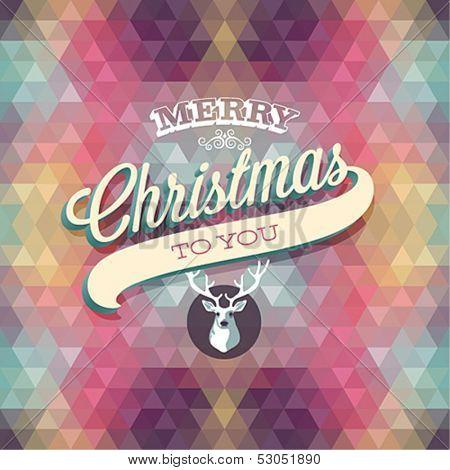 """Merry Christmas"" Poster. Vector illustration."
