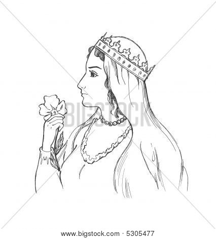 Lady With A  Flower