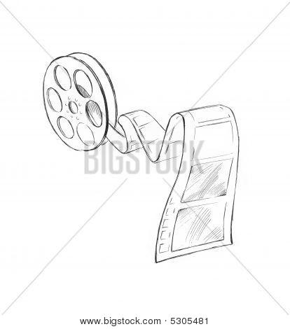 Sketch Of Movie Strip