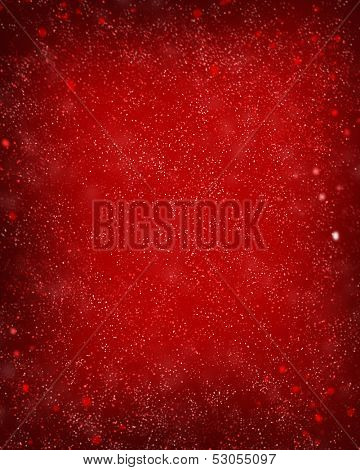 red defocused lights background. abstract bokeh lights .