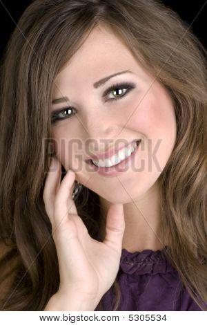 Brunette Female Model