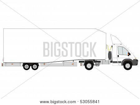Semi Trailer Truck Silhouette