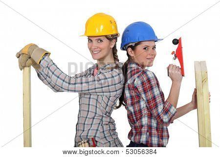 A team of tradeswomen