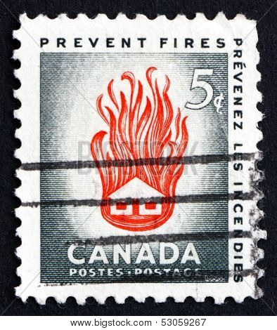Postage Stamp Canada 1956 House On Fire