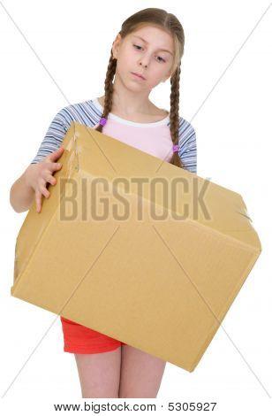 Teeneger Girl Hold Cardboard Box